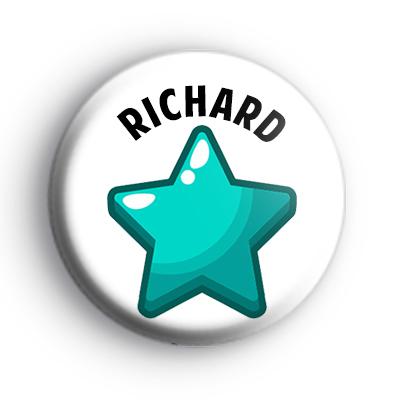 Blue Star Custom Name Badge
