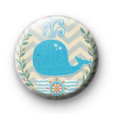 Big Blue Whale Nautical Badge