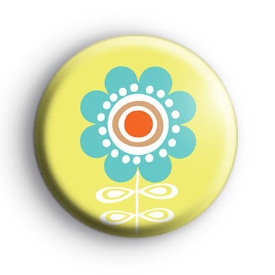 Blue and Yellow Flower Badge