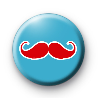 Blue and Red Moustache Badges