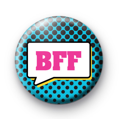 BFF Speech Bubble Blue Badge