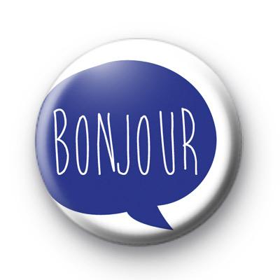 Blue Bonjour Badges