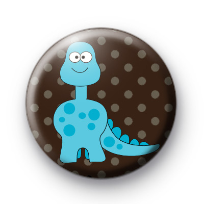 Blue Dinosaur Badge
