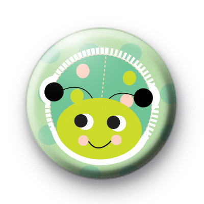 Extra Sweet Green Ladybug Pin Badge