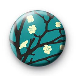 Blue Blossom Flower Badge