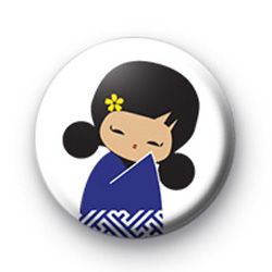 Blue Geisha Girl Badge