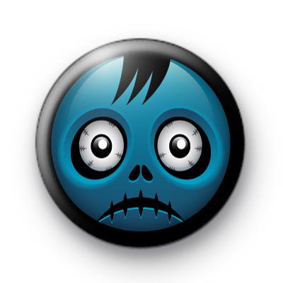 Blue Spooky Halloween Zombie badge