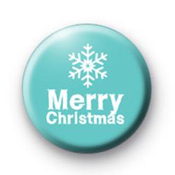 Blue Merry Christmas Badge