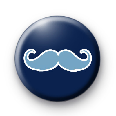 Blue on Blue Moustache Badges