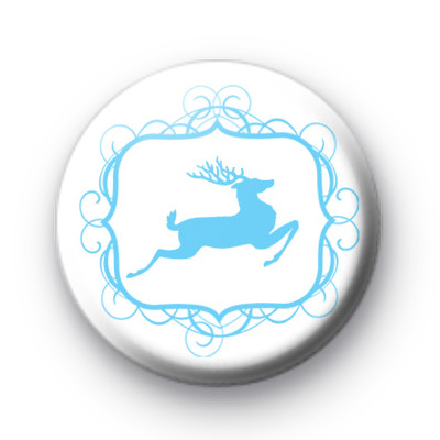 Blue Christmas Reindeer Badges