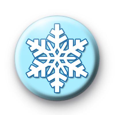 True Blue Snowflake button badges