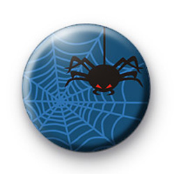 Spooky Blue Spider Badge