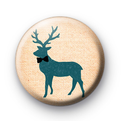 Bow Tie Stag Button Badges