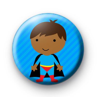 Blue Superhero Button Badges