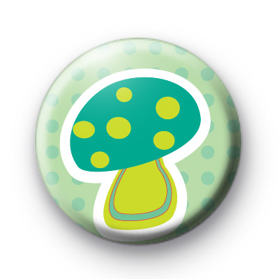 Blue Toadstool Button Badges