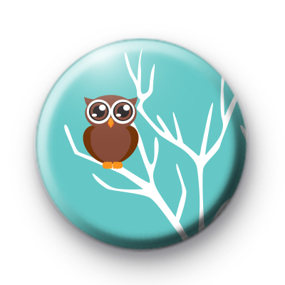 Cute Wise Owl Pin Badge