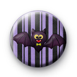 Bow Tie Halloween Bat Button Badges