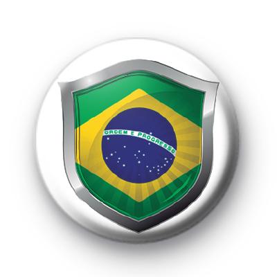 Brazil Flag Crest Badge
