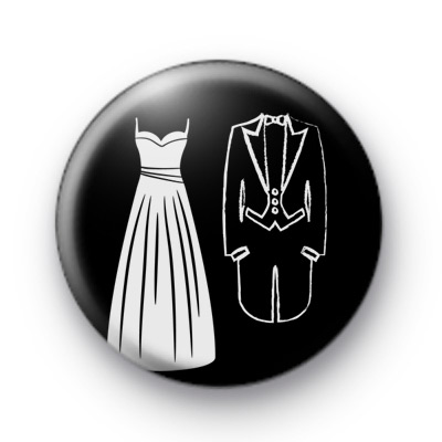Bride and Groom Badge