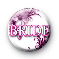 Floral Pink Badges Bride Badges