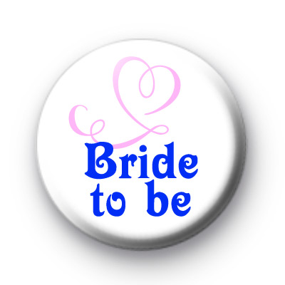 Bride to be Pink Heart Badges