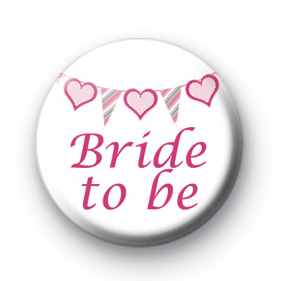 Bunting Bride to be badges