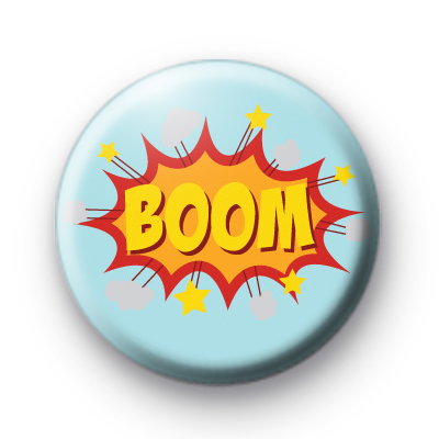 Blue and Yellow BOOM Badge