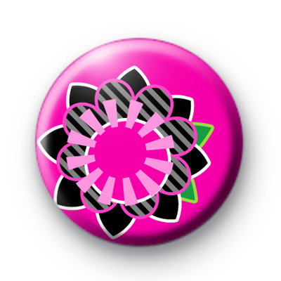 Bright Pink Modern Flower Badges