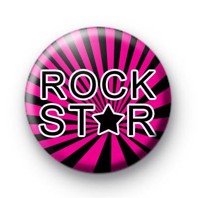 Bright Pink Rock Star Badges