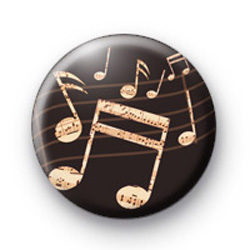 Old School Musical Notes badges