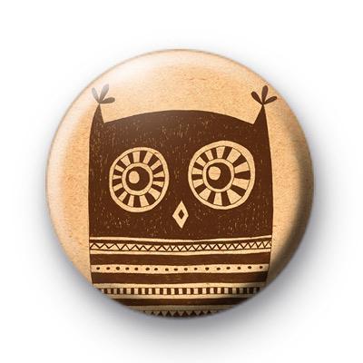 Brown Owl Button Badge