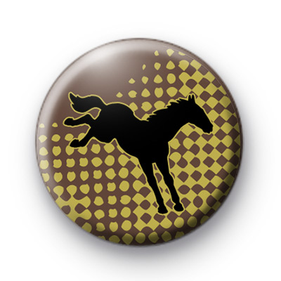 Bucking Horse Button Badges