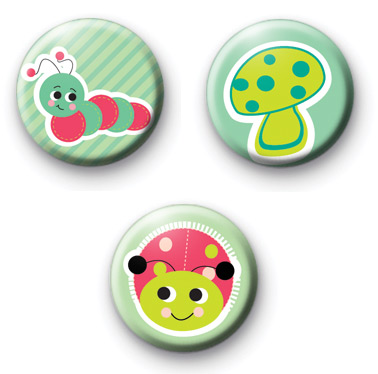 Set of 3 Bugs Life Button Badges