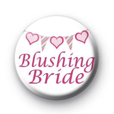 Bunting Blushing Bride badge