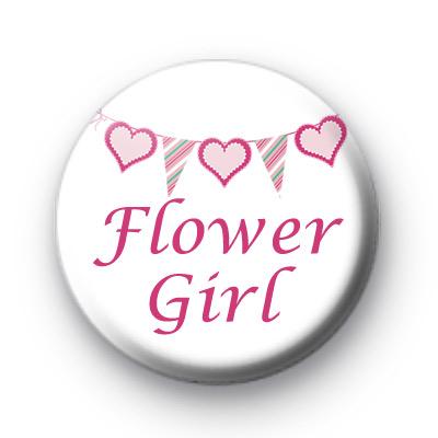 Bunting Flower Girl Badges