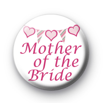 Bunting Mother of The Bride badge