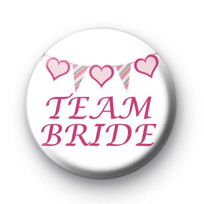 Bunting Team Bride Badge