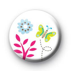 Summer Butterfly Button Badges