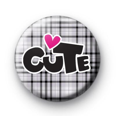 Grey Cute Button Badge