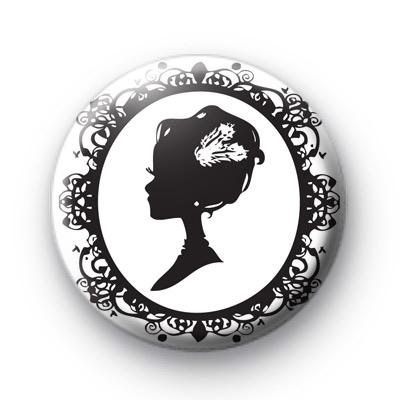 Victorian Cameo Button Badges