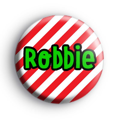 Personalised Candy Cane Christmas Name Badge