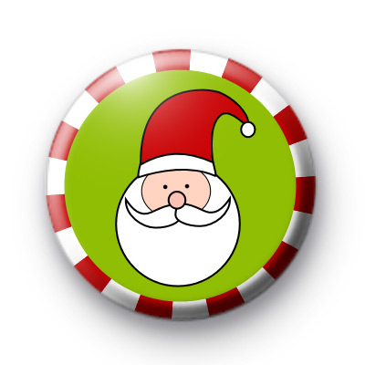 Candy Cane Santa Claus Badges