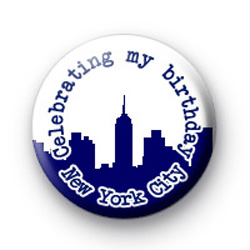 Celebrating My Birthday New York City badge