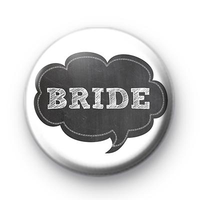 Chalkboard Bride Wedding Badges