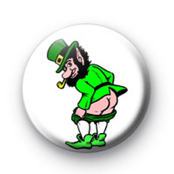Cheeky Leprechaun Badge