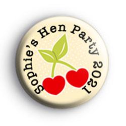 Cute Cherry Custom Hen Party Badge