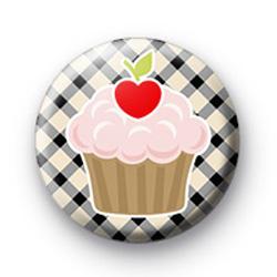 Cherry Cupcake Button Badge