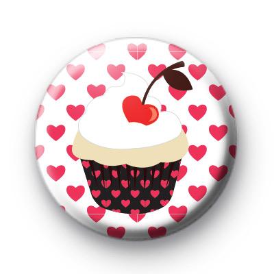 Cherry Cupcake Love Badge
