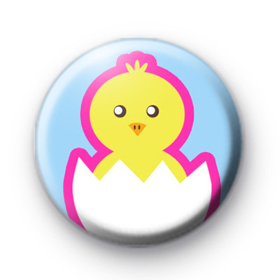 Chick Easter Egg Button Badge