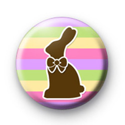 Chocolate Easter Bunny Badge